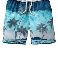 Gap Tropical Beach Swim Trunks Size 5 YRS - Blue steel