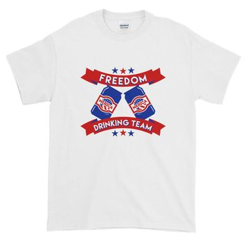 Freedom Drinking Team 4th Of July - Unisex Short-Sleeve T-Shirt - Various Colors