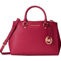 MICHAEL Michael Kors Sutton Medium Satchel Deep Pink - Zappos.com Free Shipping BOTH Ways