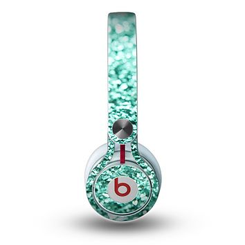 The Aqua Green Glimmer Skin for the Beats by Dre Mixr Headphones