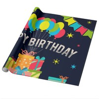 Happy Birthday Balloons Wrapping Paper