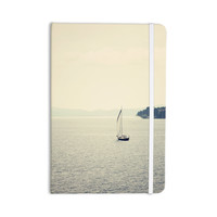 "Sylvia Coomes ""Hazy Sea"" Blue Travel Everything Notebook"