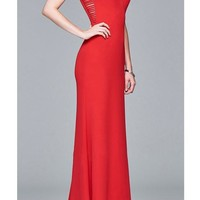 Streetstyle  Casual Red Cut Out Draped Zipper Round Neck Sleeveless Maxi Dress