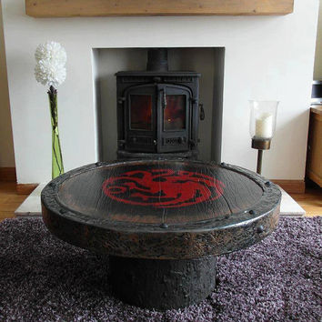 Handmade Game Of Thrones sigil coffee table