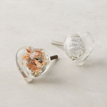 Glass Heart Knob