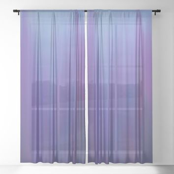 Violet Chromatic Sheer Curtain by duckyb