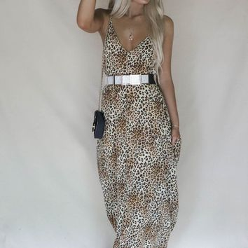Make It Official Leopard Maxi Dress