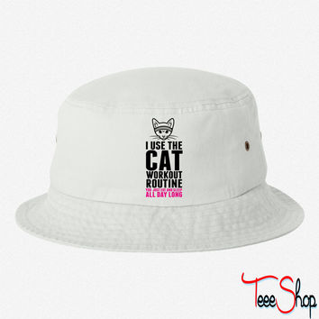 I Use The Cat Workout Routine bucket hat