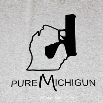 Pure MichiGUN T-Shirt, Michigan, Gun