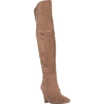 Via Spiga Kennedy Over-The-Knee Wedge Boots, Dark Taupe, 5 US / 35 EU