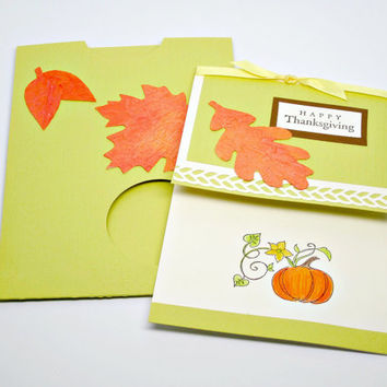 Thanksgiving Card, Bath Salt Card Insert, Gift Card Package with Bath Soak, One of a Kind