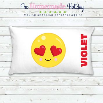 Heart Eye Emoji Personalized Pillowcase