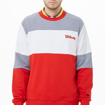 Wilson Striped Colorblock Logo Sweatshirt