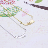 Branch  necklace in  silver or gold tone