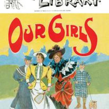 """Puck's Library: Our Girls: Paper poster printed on 12"""""""" x 18"""""""" stock."""