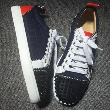 PEAPUX5 Cl Christian Louboutin Low Style #2044 Sneakers Fashion Shoes