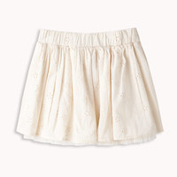 Tulle Lined Eyelet Skirt