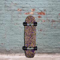 "Longboard Skateboard Rodents Animal Print Cruiser 30""- Complete"