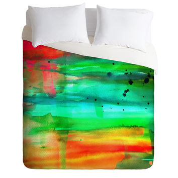 Sophia Buddenhagen A Colorful Spot Duvet Cover