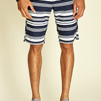 Striped Woven Chino Shorts Navy/White