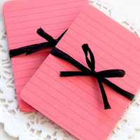 Pink Index Cards. Journal Card. Mini Note Card. Planner Pages. Filofax Insert. Office Supply. Pink Paper. Mixed Media. Valentine Card. Notes