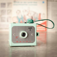 Savoy Mark II Camera - Mint Green - 1950s Vintage - Excellent Condition.