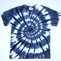 ON SALE:  Adult Small/ Tie Dye Shirt/ Black and White Spiral