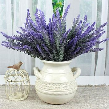 ESBONHS Provence lavender flower silk tomentum artificial flowers grain decorative fake flores bouquet