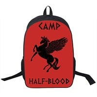 Percy Jackson CAMP Half Blood Backpack For Teenagers Girls Boys School Backpacks CAMP Half-Blood School Bags Men Women Backpack