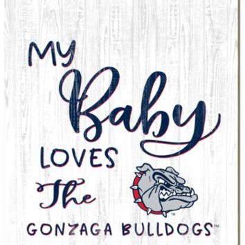 Gonzaga Bulldogs | My Baby Loves | Sign | Wood | Rope Hanger | NCAA