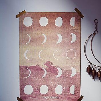 Free People Womens FP Moon Phase Wall Art
