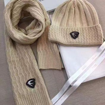 ICIKQ2 Alexander McQueen Fashion Beanies Knit Winter Hat Cap Scarf Scarves Set Two-Piece1