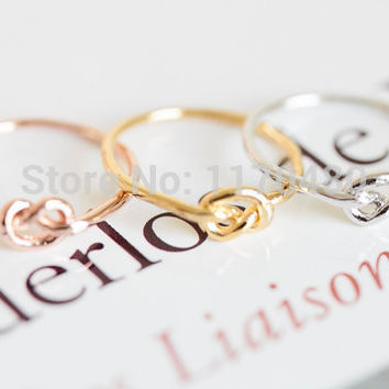 New Infinity Knot Ring Bowknot Girls Elegant Rings Fashion Jewelry Simple