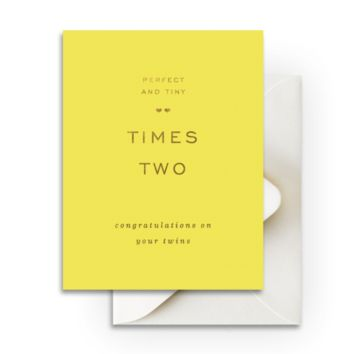 Perfect Twins Greeting Card