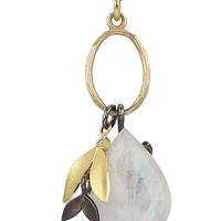 Moonstone Charm by Jamie Cassavoy (Gold, Silver, & Stone Necklace) | Artful Home