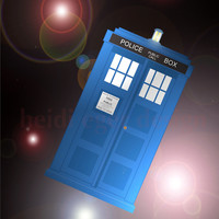 Doctor Who TARDIS Art Print 4x6