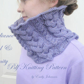 Radiance Cowl & Infinity PDF Knitting Pattern, Easy Pattern, Braided Cables, Worsted Yarn