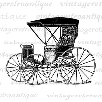 Carriage Wagon Digital Image Graphic Antique Car Printable Download Vintage Clip Art Jpg Png Eps  HQ 300dpi No.1432
