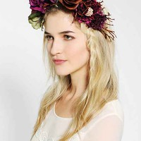Katie Burley Millinery Woodland Queen Flower Crown Headwrap- Purple One