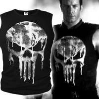 Lycra Cool T- shirt The Punisher Skull T Shirt Slim Black O-Neck Short Sleeve Tees Fashion Cotton T Shirt For Men Free Shipping