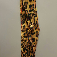 Pin - up - rockabilly  - Retro  - vintage  - leopard  - cheetah - animal - print - Rosie - riveter  - style -  hair tie