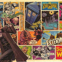 Doctor Who Comic Book Panels Poster 24x36