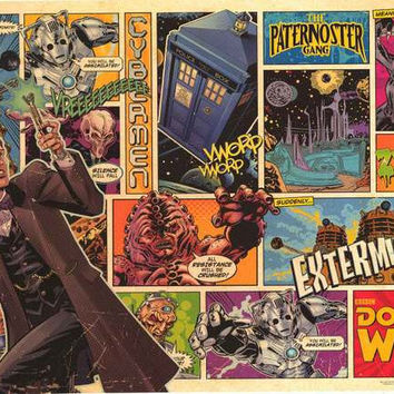 Doctor Who Comic Strip Poster 24x36