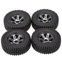 4Pcs RC Rock Crawler Parts AUSTAR AX-3020A 1.9 Inch 103mm 1/10 Scale Tires with Wheel Rim for 1/10 D90 SCX10 CC01 RC Crawler