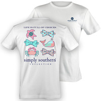 NEW Simply Southern Preppy Sealife Crab Turtle Whale Bow Choices Girlie Bright T Shirt