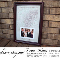 Wedding Gift for Parents, Father of the Bride Gift, Mother of the Bride Gift, Mom and Dad Wedding Thank You, Wedding Frame, Mother Thank You