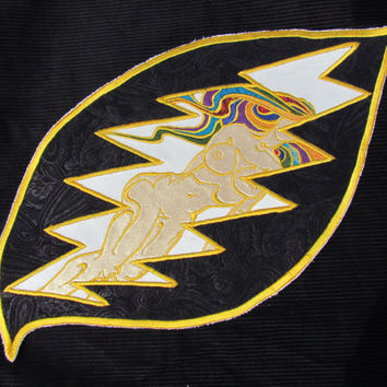 Example of Custom Work.  Grateful Dead 13 Point Naked Lady Patch Handmade Applique