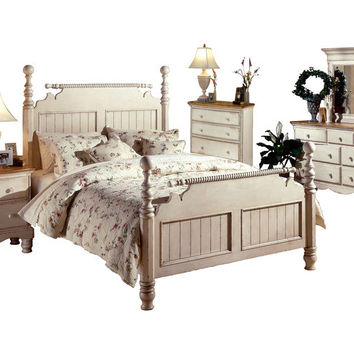 1172 Wilshire Bed - Queen, Rails, Nightstand, Dresser, Mirror, and Chest - Free Shipping!