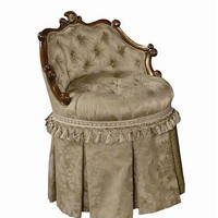 Vanity Stool with Swivel tufted