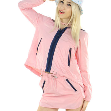 BABY PINK WINDBREAKER JACKET